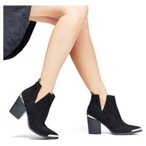 Mossimo Raine Western Silver Tip Booties